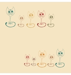 cute kitten colored outline vector image
