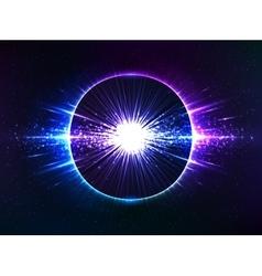 Dark blue cosmic explosion abstract vector