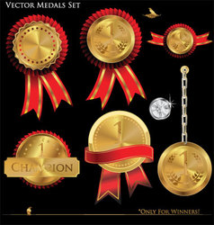 gold medals set vector image