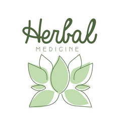 Herbal medicine logo symbol vector