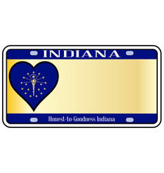 Indiana state license plate vector