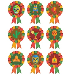 mexican rosettes vector image