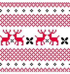 Norwegian ornamental Christmas pattern vector image vector image