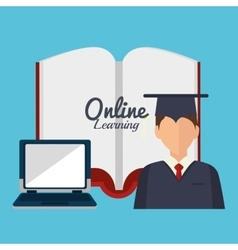 online learning design vector image vector image