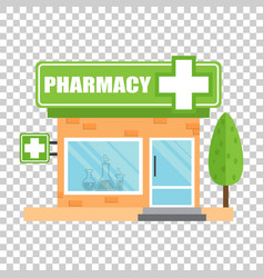 Pharmacy drugstore shop store pharmacy on vector