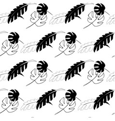 seamless pattern in black and white colors with vector image vector image