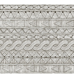 seamless tribal pattern Hand-drawn background vector image