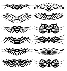 vector tribal tattoos set vector image vector image