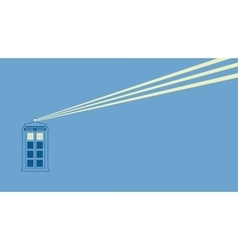 british police box vector image