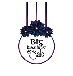 Big black friday sale vector