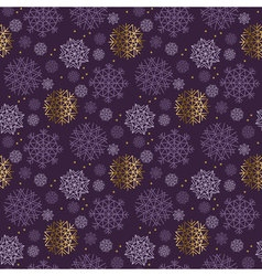 Christmas snowflakes seamless pattern violet color vector