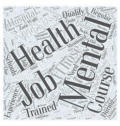 Mental health jobs word cloud concept vector