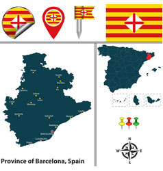 Province of barcelona spain vector