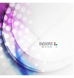 Blurred wave modern design vector image