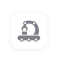conveyor line icon production manufacturing vector image