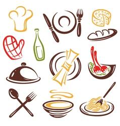 Cook cooking set vector