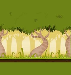 seamless forest landscape vector image