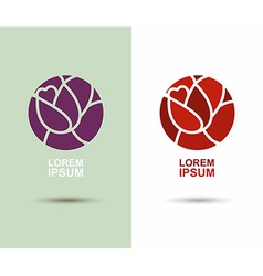 Logo flower abstract icon design template flourish vector