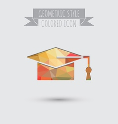 Graduate hat education sign symbol icon college or vector