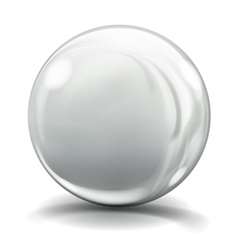 Big gray glass sphere vector