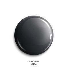 blank black glossy badge vector image vector image