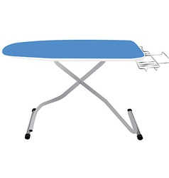 Blue ironing board vector image