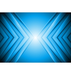 Bright blue tech background vector image vector image