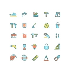 Construction home repair building tools vector image vector image
