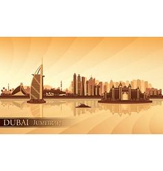 Dubai jumeirah skyline silhouette background vector