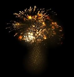 Festive Christmas grandiose firework explode vector image vector image