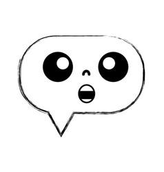Figure chocked chat bubble kawaii cartoon vector