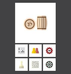 Flat icon entertainment set of arrow labyrinth vector