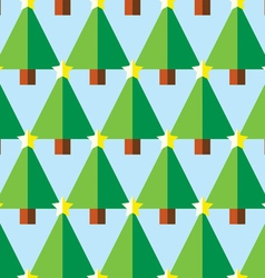 Geometric christmas trees with star pattern vector