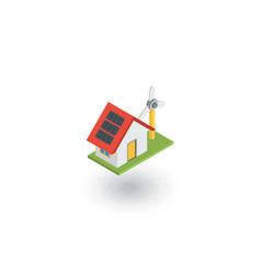 green house concept ecological equipment - solar vector image vector image