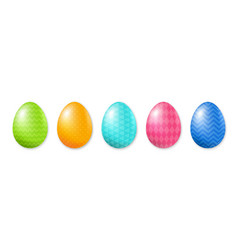 happy easter set of eggs vector image vector image