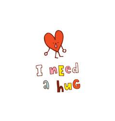 I need a hug vector
