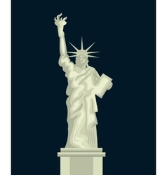 liberty statue american emblem vector image vector image