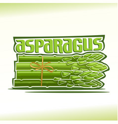 logo for asparagus vector image vector image