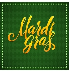 Mardi gras carnival calligraphy poster vector