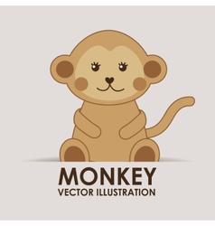 Monkey cute vector