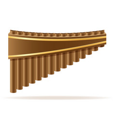 Pan flute wind musical instruments stock vector