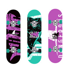Skateboards graphic design vector