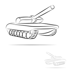 stylized tank vector image vector image