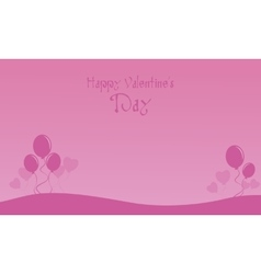 Valentine day with balloon landscape vector image vector image