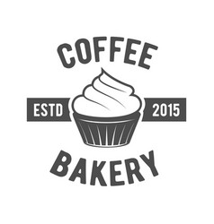 Vintage coffee badge logotyp vector