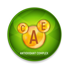 Vitamin a c e icon antioxidant complex vector