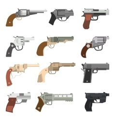 Weapons handguns collection vector
