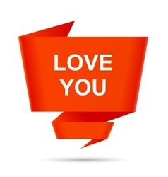 Speech bubble love you design element sign symbol vector