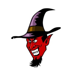 Devil and witch hat vector