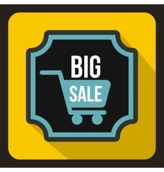 Big sale sticker icon flat style vector